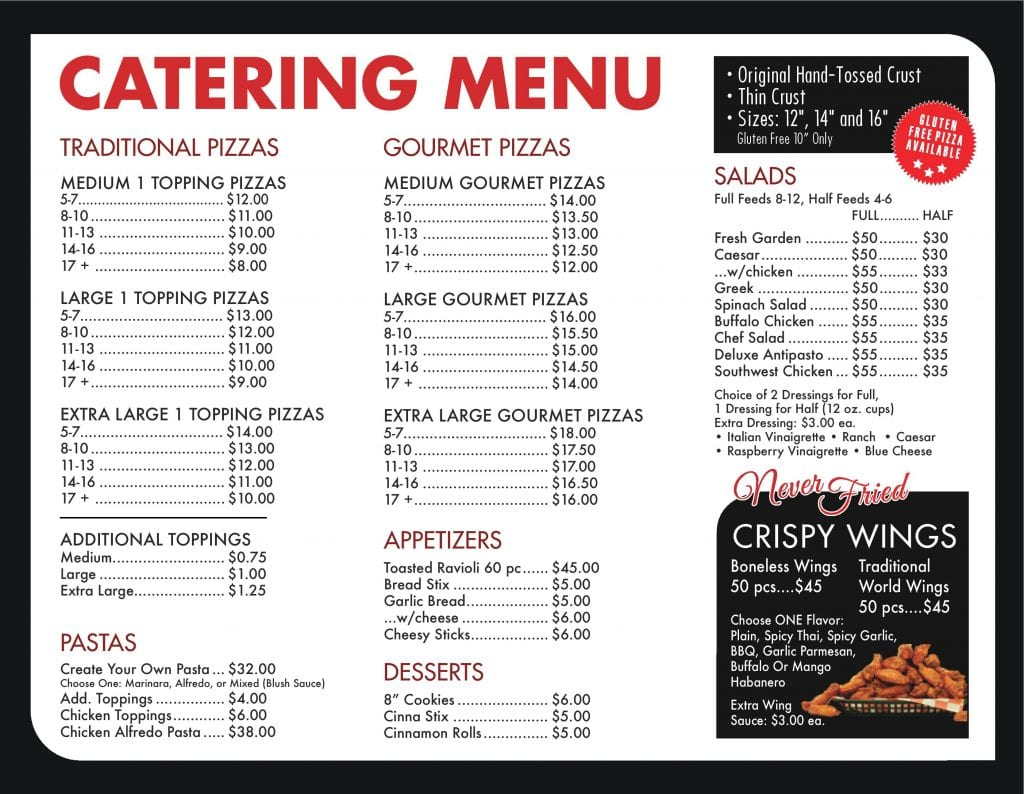 Pizza World in Creve Coeur, Missouri - Catering Menu